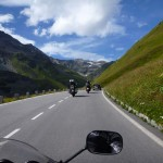 19829549 - alps from the perspective of a motorcyclist