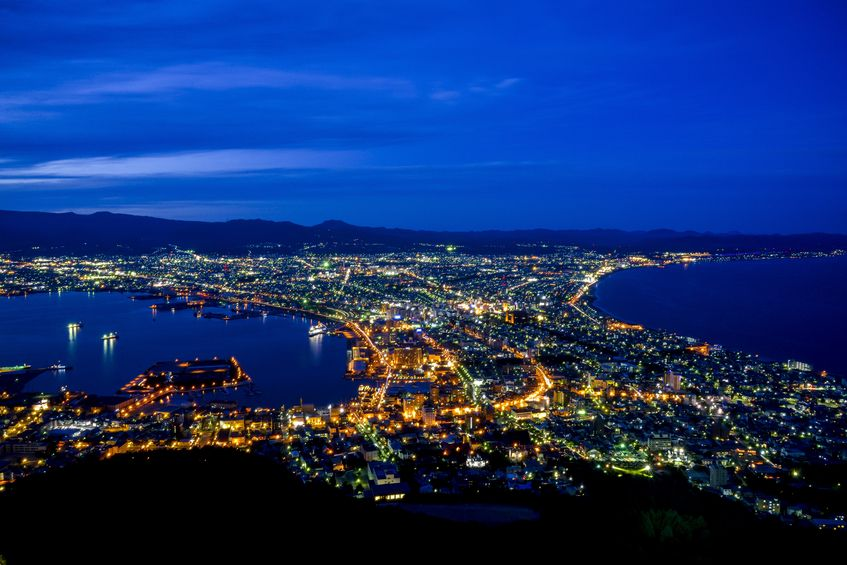 21752932 - beautiful scene in hakodate japan