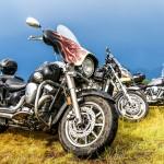 61436715 - novyy urengoy, russia - june 25, 2016: motorcycle yamaha at the countryside.