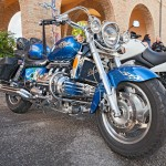 """31008867 - custom motorbike six cylinder engine honda valkyrie gl1500c f6c parked during the motorcycle rally \""""mototagliatella 2013\"""" on may 12, 2013 in predappio (fc) italy"""