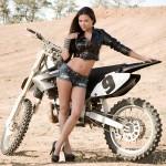 18714415 - sexy beautiful girl with motorbike